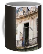 Smoker On Balcony In Cuba Coffee Mug