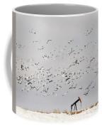 Snow Geese Over Oil Pump 01 Coffee Mug by Rob Graham