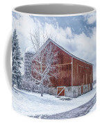 Snowing At The Farm Coffee Mug by Kim Hojnacki