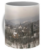 Snowy Bled In Slovenia Coffee Mug