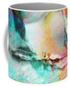 Somebody's Smiling - Custom Version 3 - Abstract Art Coffee Mug by Jaison Cianelli