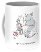 Sort Of Enraged By Burgundy Coffee Mug