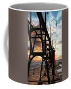 South Haven Pier Sunset Coffee Mug by Lars Lentz
