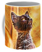 Special Long Neck Kitty Coffee Mug by Don Northup