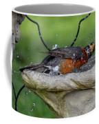 Splish-splash I Was Taking A Bath - American Robin Coffee Mug