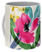 Spring Garden Pink- Floral Art By Linda Woods Coffee Mug