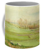 Spring Landscape With Light Green Fields Coffee Mug