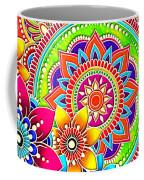 Springtime Mandala Coffee Mug by Becky Herrera
