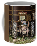 Square Format Old Tractor In The Barn Vermont Coffee Mug