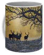 Stags At Dawn Coffee Mug