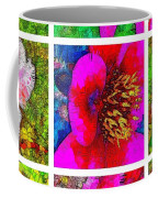 Stained Glass Pink Flower Collage  Coffee Mug