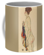 Standing Nude With A Patterned Robe, 1917  Coffee Mug