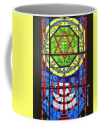 Star Of David Stained Glass Coffee Mug