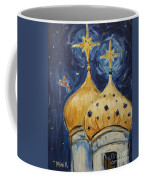 Stars Near And Far Coffee Mug by Maria Langgle