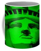Statue Of Liberty In Green Coffee Mug
