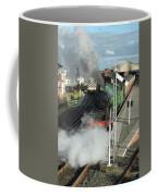 Steam Train Leaving Station Coffee Mug