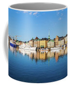 Stockholm Old City Fantastic Golden Hour Sunrise Reflection In The Baltic Sea Coffee Mug