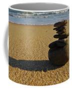 Stone Balance On The Beach Coffee Mug