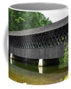 Stone Mountain Covered Bridge Panorama View Coffee Mug