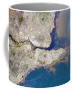 Stream Along Manistee River Aerial Coffee Mug