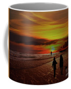 Strolling The Beach At Olon Coffee Mug