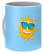 Summer Sun Wearing Sunglasses Coffee Mug