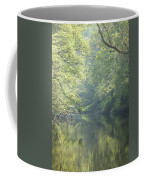 Summer Time River And Trees Coffee Mug