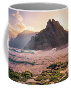 Sun Rising Behind Roque De Los Hermanos Coffee Mug by Dmytro Korol