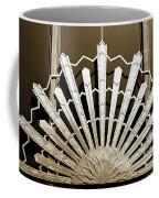 Sunburst Art Deco Sepia Coffee Mug