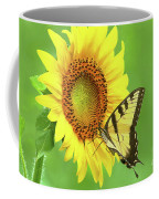 Sunflower And Swallowtail Coffee Mug
