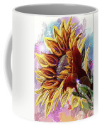 Sunflower In The Sun Coffee Mug by Darren Cannell