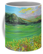 sunflower valley- Sunflower Art-Impressionism painting Coffee Mug