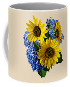 Sunflowers And Hydrangeas Coffee Mug