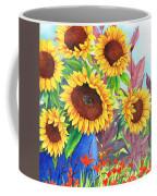 Sunflowers Galore Coffee Mug by Val Stokes