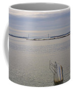 Sunken Sailboat In The Bay Coffee Mug