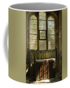 sunlight on linen fold altar in Trinity church York Coffee Mug