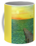 Sunrise At The Dock Coffee Mug