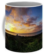 Sunrise Over The Bay At Pigeon Point Lighthouse Coffee Mug