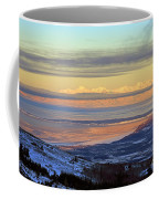 Sunrise View Across Cook Inlet From Above Anchorage Alaska Coffee Mug