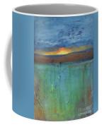 Sunset - Abstract Landscape Painting Coffee Mug