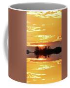 Sunset Behind The Tree Tops Two  Coffee Mug