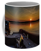 Sunset Fishing Dog Lake Coffee Mug
