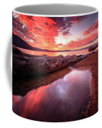 Sunset Harmony At Kiva Beach Coffee Mug