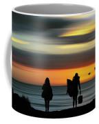 Surfer Girls Silhouette Coffee Mug