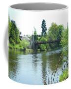suspension bridge on river Teviot near Heiton Coffee Mug