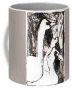 Swans After Mikhail Larionov Black Oil Painting 5 Coffee Mug
