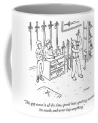 Sword Swallowing Shopper Coffee Mug