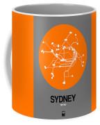 Sydney Orange Subway Map Coffee Mug