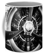 T-28b Trojan Close-up In Bw Coffee Mug by Doug Camara