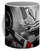 T-28b Trojan In Selective Color Coffee Mug by Doug Camara